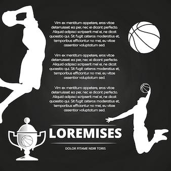 Basketball-turnier tafel hintergrund