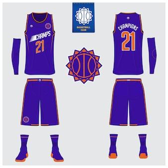 Basketball uniform vorlage design.