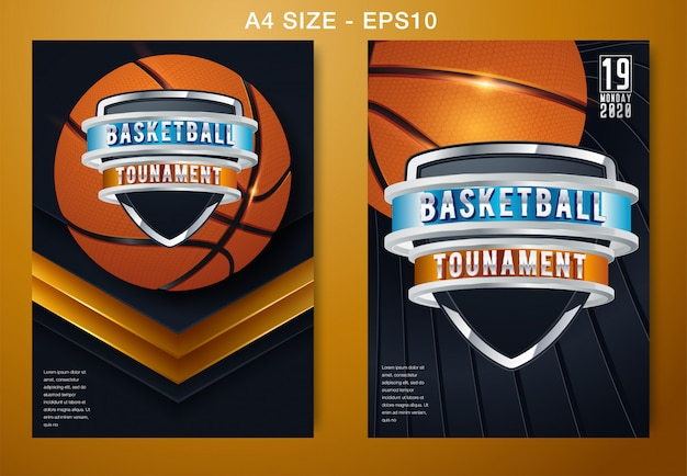 Basketball-vektor-poster-spiel-turnier