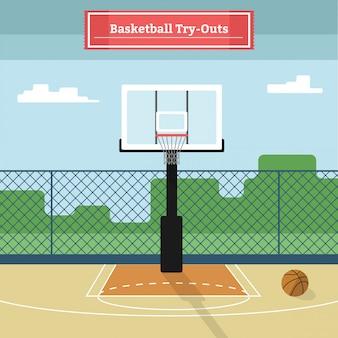 Basketball-versuche
