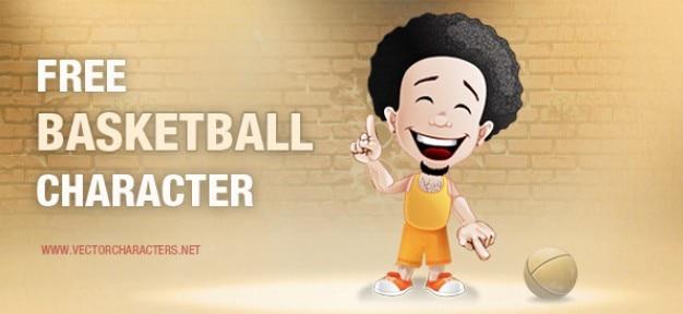 Basketball-zeichentrickfigur