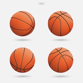 Basketballball lokalisiert auf weißem hintergrund