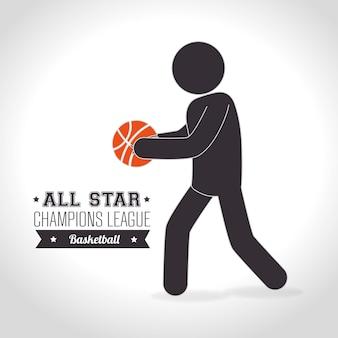 Basketballdesign, Vektorillustration.