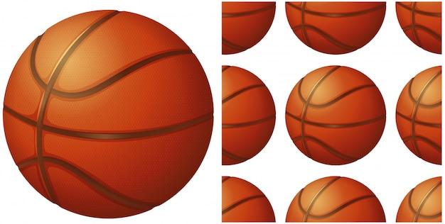 Basketballkugel getrennt auf weiß