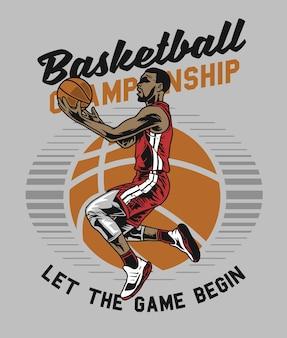 Basketballspieler macht reifen
