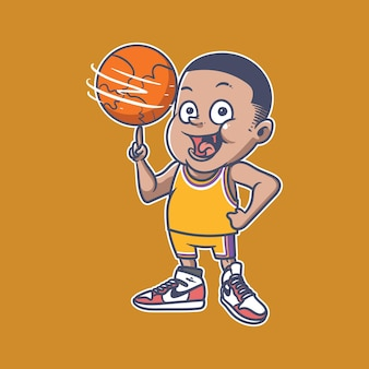 Basketboy illustration
