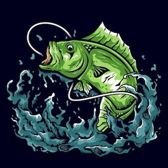 Bass angeln illustration