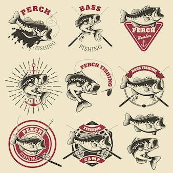 Bass fishing labels