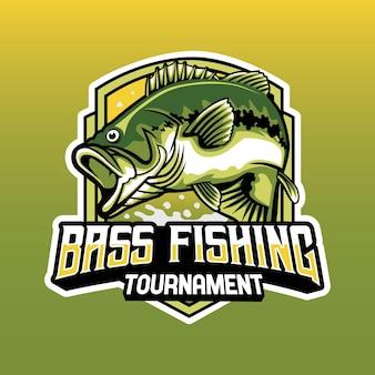 Bass fishing tournament logo