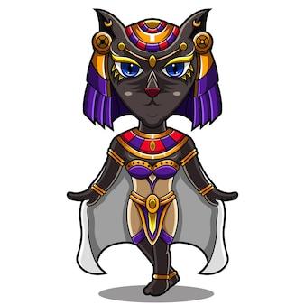 Bastet chibi maskottchen logo design