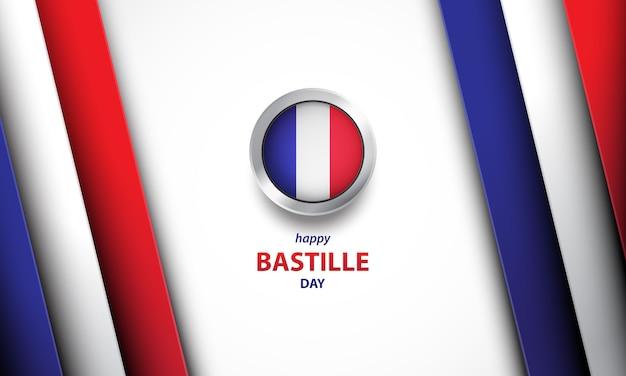 Bastille day hintergrund mit realistischem stil