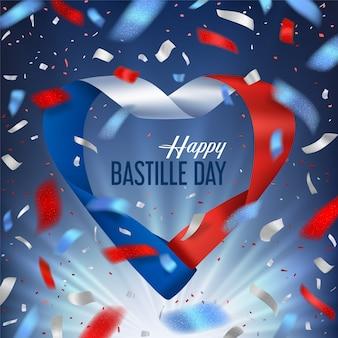 Bastille tag mit band und gruß von konfetti