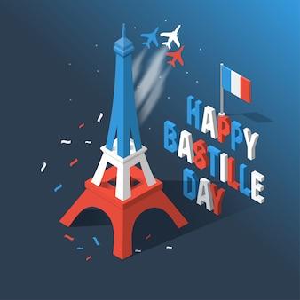 Bastille-tag, unabhängigkeitstag von frankreich, symbole.