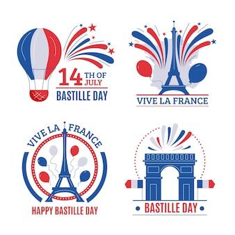Bastille tagesabzeichen sammlung