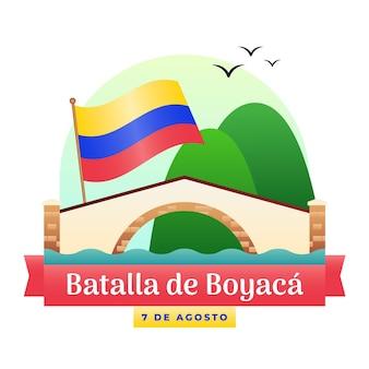 Batalla de boyaca-illustration mit farbverlauf