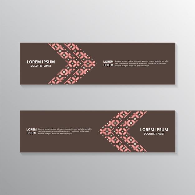 Batik-banner-vorlagen