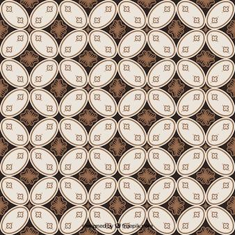 Batik hintergrund der vintage-geometrischen formen