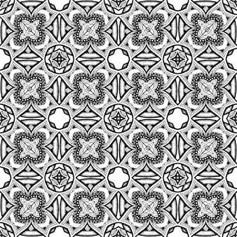 Batik indonesian ist eine schwarz-weiß-batik-färbetechnik, die auf das gesamte gewebe angewendet wird
