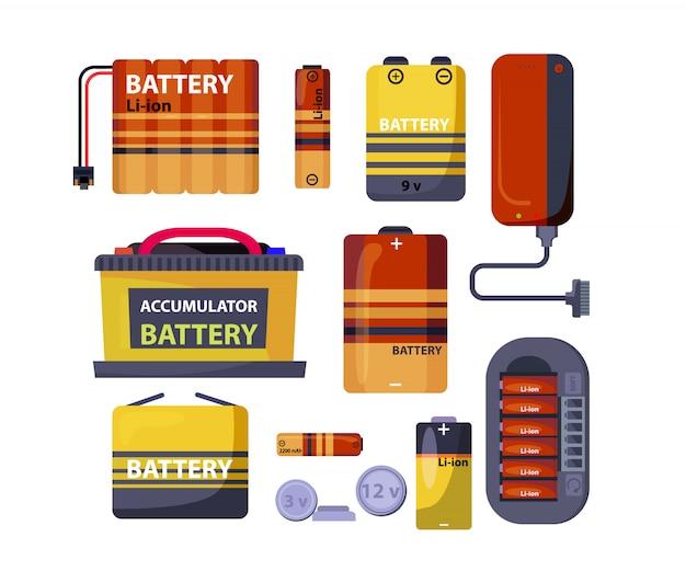 Batterie- und akkusatz