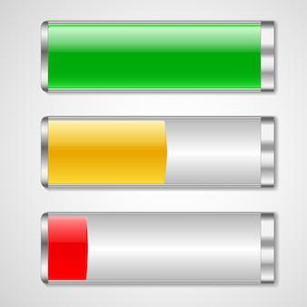Batterieladestatus-vektorillustration