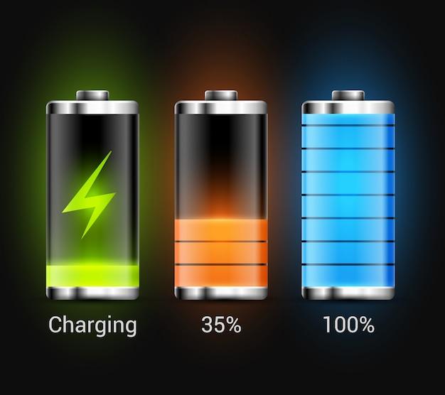 Batterieladung energie power symbol. design-technologie zum aufladen von batterien