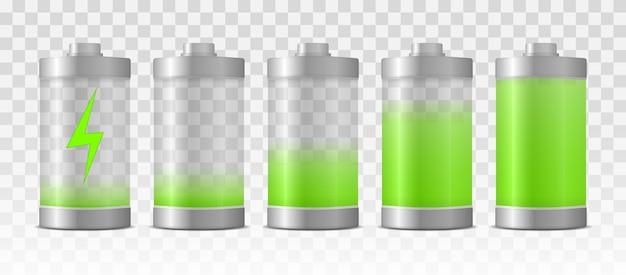 Batterieladung mit voller leistung. volle ladungsenergie
