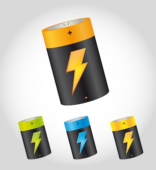 Batterien mit bolzen