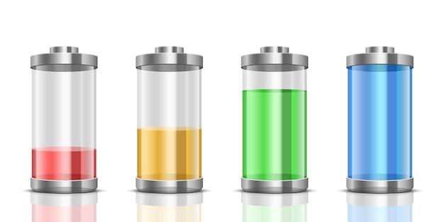 Batteriesatzillustration auf hintergrund