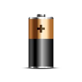 Batteriestand 3d-vektorsymbol mockup glänzende energie