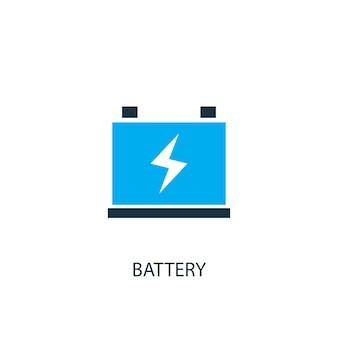 Batteriesymbol. logo-element-abbildung. batteriesymbol-design aus 2-farbiger kollektion. einfaches batteriekonzept. kann im web und mobil verwendet werden.