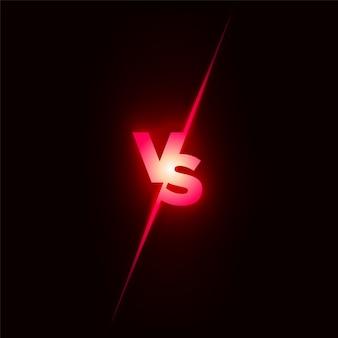 Battle-konzept. kämpfe gegen den wettbewerb. versus konzept