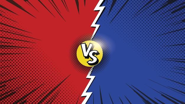 Battle versus background comic-stil