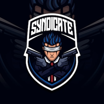 Battlefield maskottchen kriegsgebiet mit esport logo