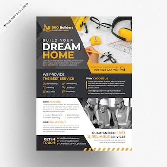 Bau business flyer vorlage