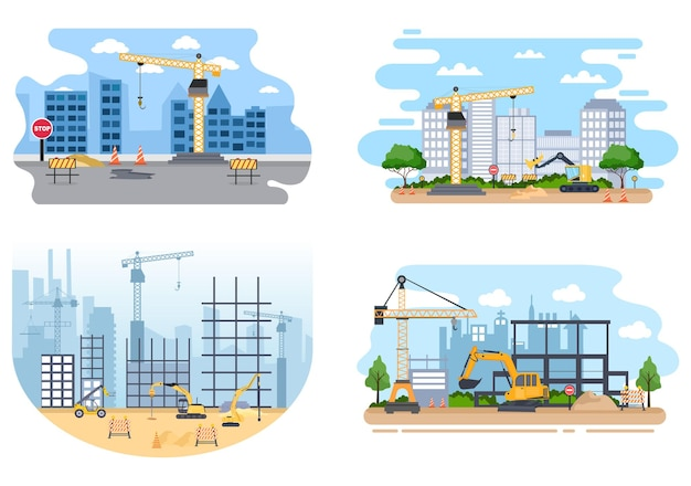 Bau des immobilienvektors