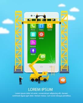 Bau eines mobiltelefons
