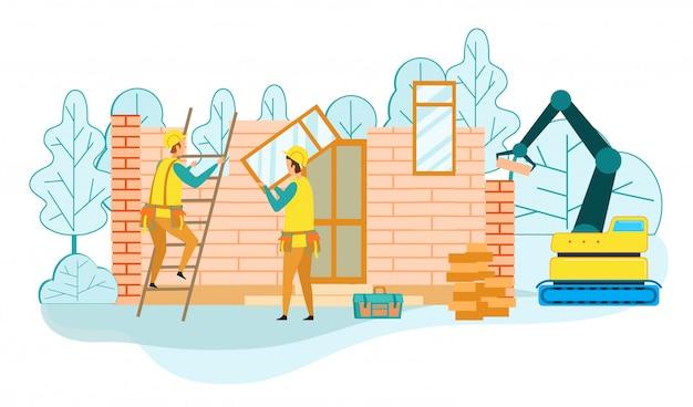 Bau eines schlüsselfertigen landhausdienstes