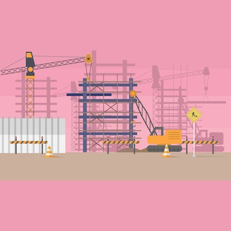 Bau-hintergrund-design