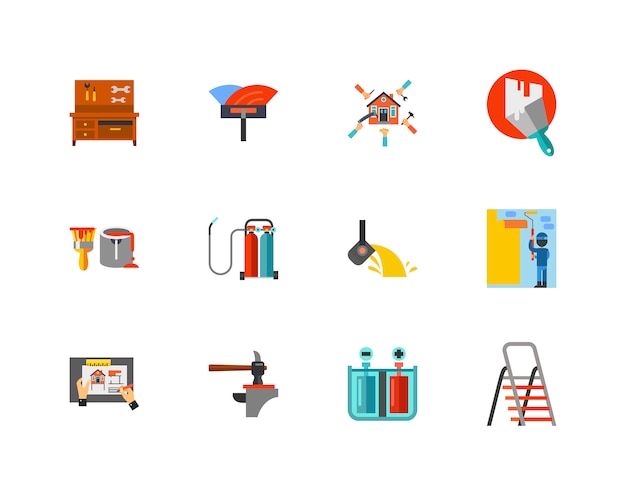Bau icon set