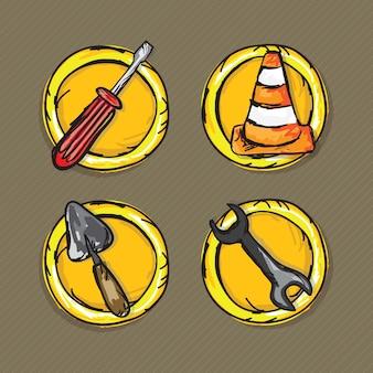 Bau-icons (schraubenzieher-spatel)
