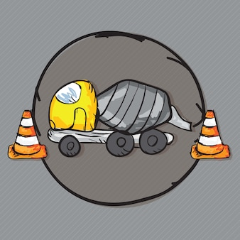 Bau icons trucks (betonmischfahrzeug)