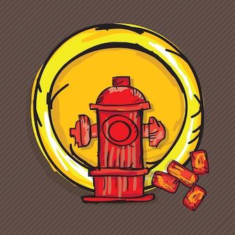 Bau-icons (ziegel hydrant)