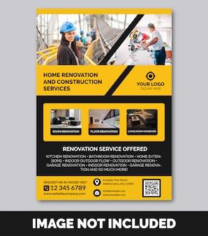 Bau & renovierung flyer vorlage premium