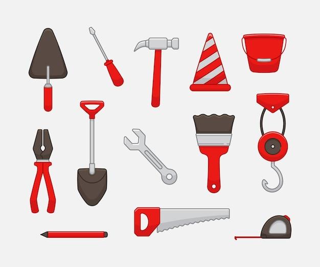 Bauarbeiter-ausrüstungsset