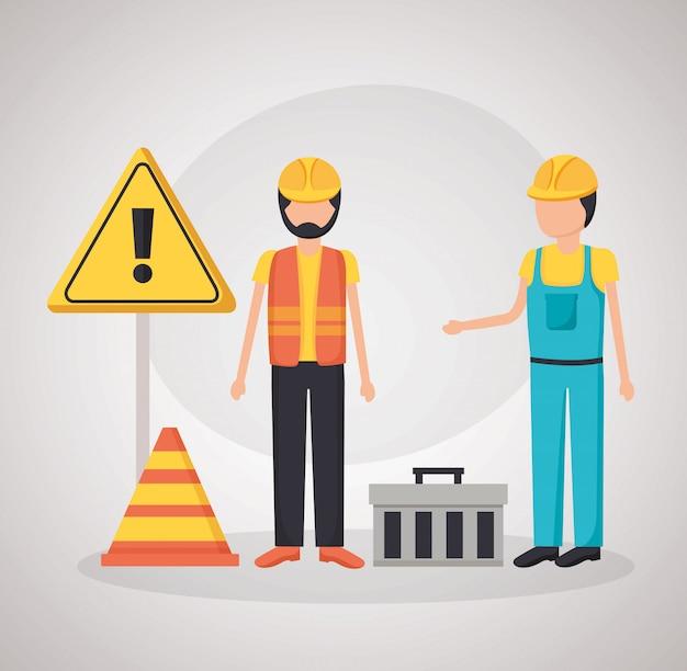 Bauarbeiter barriere
