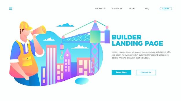 Bauarbeiter landing page