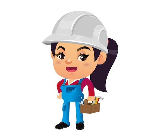 Bauarbeiter mit verschiedenen posen