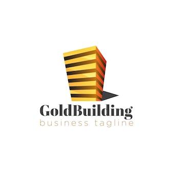 Baue goldenen logo