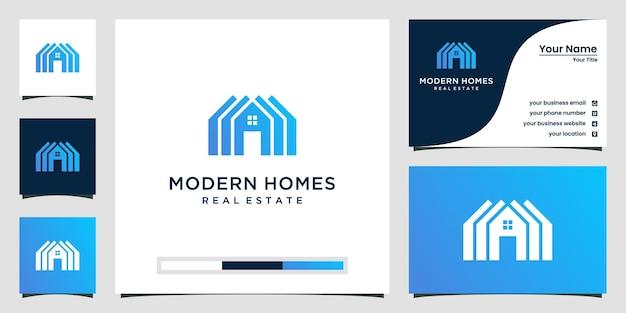 Bauen sie ein hauslogo mit flachem kunststil. hausbau abstrakt für logo