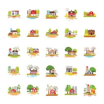 Bauernhaus illustrationen